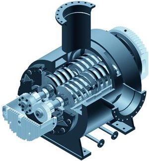 Bornemann twin screw pump